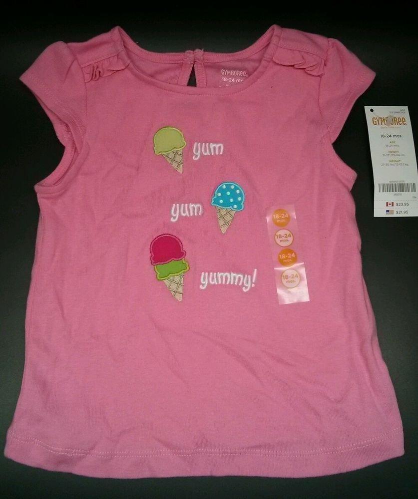 NWT Gymboree ICE CREAM SWEETIE pink yum yummy ice cream cone shirt top18-24 top