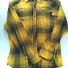 Hawk Yellow Flannel Mens Large Plaid Check Black Pocket Tony Long Sleeve Shirt