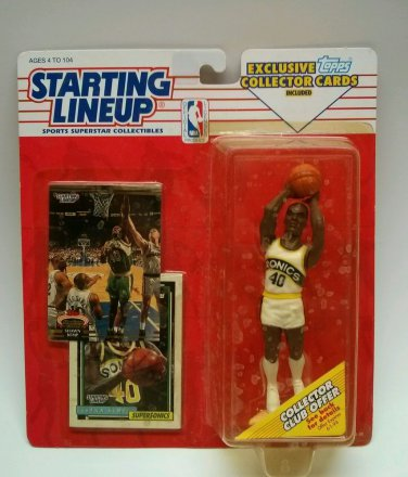 STARTING LINEUP NBA 1993 SHAWN KEMP SONICS FIGURE W/ TOPPS CARDS NIP