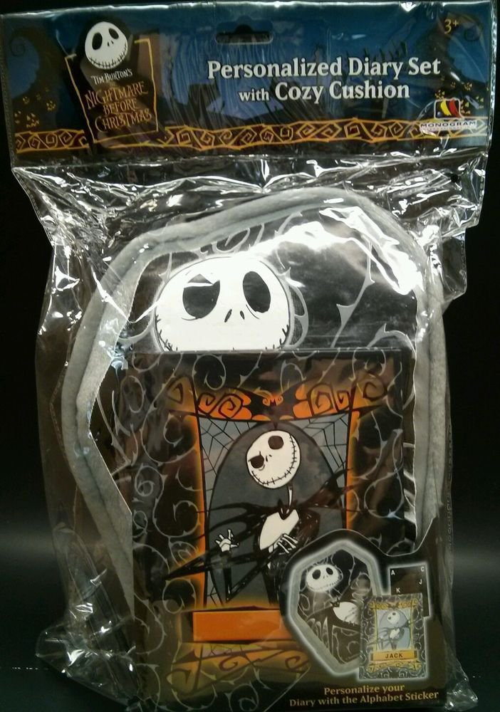 Nightmare Before Christmas Personalized Diary w/Cushion Pillow Jack Skellington