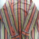 Robert Graham Men Striped Shirt Floral Silk Trim 3XLT XXXL 3X 3XL Long Sleeve