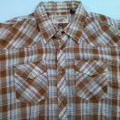 Authentic Western Youngbloods XL Xlarge 17 1/2 Plaid Check Men's Shirt Western