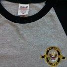 Gray Black Ringer T Shirt 3/4 Sleeve U.S Army Ft Fort Lewis 1775 Medium M Men's