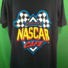 Large L Black Nascar Cafe T Shirt Myrtle Beach 100% Cotton TShirt Licensed Race