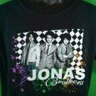 Black Jonas Brothers Bros Medium M T Shirt Burning Up Tour 2008 Towns Cities JB
