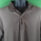 Izod Golf Medium M Men's Shirt 68% Cotton 32% Polyester Brown Short Sleeve Polo