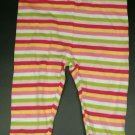 Gymboree Girls Striped Pants Bottom 3-6 Months Bow Girls