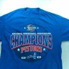 Blue Mens Medium/Large Detroit Pistons 2004 NBA Champions Finals National