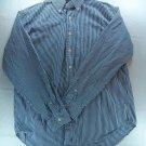 Large American Living Mens Shirt L Stripe Blue White Long Sleeve Dress Casual