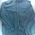 Chaps Shirt Blue Striped XXL Mens Button Down 2XL XX Large 2X XX Stripe Logo