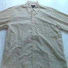 Brooks Brothers 346 Large Long Sleeve L Yellow Plaid Dress Casual Mens Shirt