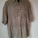 Via Veneto XL Hawaiian X Large 100% Rayon Vacation Brown Green Mens Shirt Men