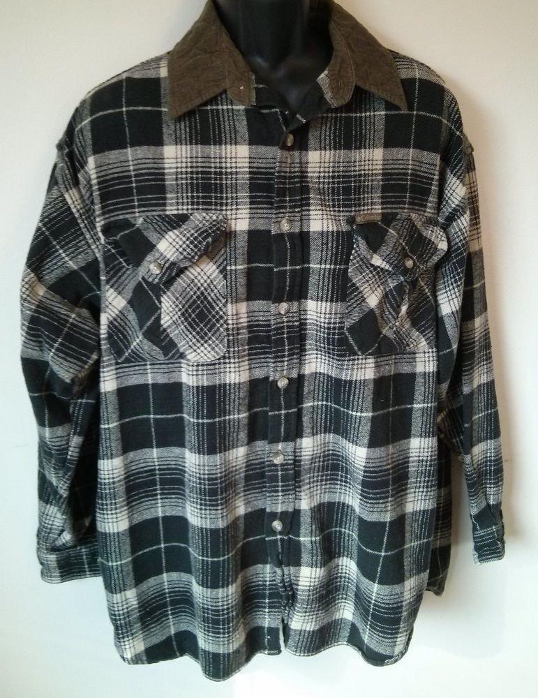 Columbia Sportswear Flannel Corduroy Mens Men Long Sleeve Shirt Brown Plaid XL