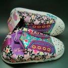 Skechers Twinkle Toes Girls 2/3 Light Up Sneaker Slipper New Large Pink Purple L