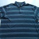 Eddie Bauer 2XL Blue Stripe Polo Mens Shirt Soft Heavy Camping Casual X X L  XXL
