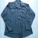 Blue Red Stripe Pearl Snap 16 33 Mens Cowboy Shirt Pan Handle Slim Western Long