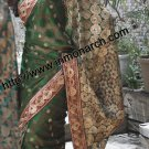 Attractive Look Green Net Designer Party Wear Bridal Saree Eid Sarees SW622