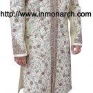 Designer Cream Readymade Sherwani 42R Ready to Ship Mens Wedding Sherwanis SH476