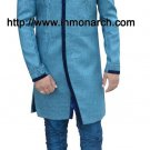 Glorious Blue Wedding Indo Western 38R Ready to Ship Designer Men's Wear IN440