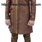 Classic Copper Brocade Indo Western Sherwani 38R Ready to Ship Men's Wear IN427