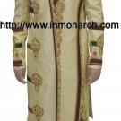 INMONARCH Mens Designer Golden Yellow Readymade Sherwani SH522 Size 40R
