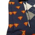NEW MENS (2) PAIR SET DC COMICS SUPERMAN BLUE RED & PLAID SOFT MENS DRESS SOCKS
