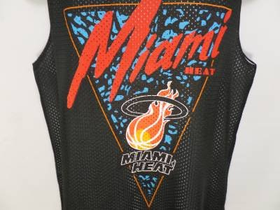 NEW SIZE M NBA MIAMI HEAT BLACK RED ATHLETIC MESH JERSEY TANK TOP MENS SHIRT