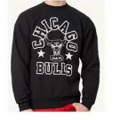 B221 NEW SZ M NBA CHICAGO BULLS BLACK WHITE PREMIUM SWEATER SOFT MENS SHIRT