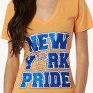 P331 NEW SIZE M NBA NEW YORK KNICKS BLUE GLITTER SHIMMER  VNECK WOMEN SHIRT