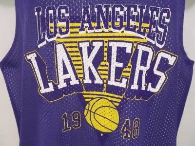 NEW SIZE S LA LOS ANGELES LAKERS NBA ATHLETIC MESH JERSEY TANK TOP MEN SHIRT