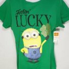 NEW SIZE XL DESPICABLE ME LUCKY SILLY MINION GRAPHIC WOMENS SOFT SHIRT