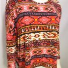 S331 NEW SZ M PINK CHEVRON RUE 21 LOOSE FIT CASUAL DESIGNER FASHION WOMEN SHIRT