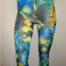 CAP9 NEW SIZE 2X GALAXY FOREIGN MOONS SPACE VIEW EXOTIC CAPRI LEGGINGS TIGHTS