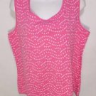 S334 NEW SIZE XL PINK  POLKA DOT BRITE FLORAL SOFT CASUAL SUMMER WOMANS HSIRT