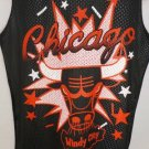 NEW SIZE S NBA CHICAGO BULLS BLACK RED ATHLETIC MESH JERSEY TANK TOP MENS SHIRT