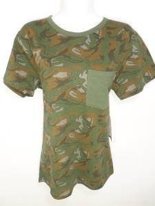 NEW SIZE M ARMY GREEN FATIGUE TRENDY CAMO CAMOUFLAGE POCKET WOMANS SHIRT