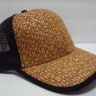 NEW ADJUSTABLE CLASCIC BLACK BAMBOO DESIGNER UPSCALE BASEBALL MEN HAT CAP