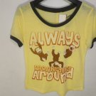 C833 NEW SIZE M BURNOUT CURIOUS GEORGE MONKEY MONKEYING AROUND FUN WOMAN SHIRT