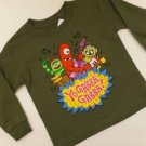 "11J8 NEW ""SIZE 2T"" BOYS CLASSIC FUNNY ARMY GREEN YO GABBA GABBA PARTY SHIRT"