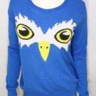 RI83 NEW SIZE M BLUE OWL EYES  RUE 21 LIGHTWEIGHT FASHION WOMEN SHIRT