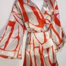 AP99 NEW SIZE L UPSCALE DESIGNER RED LAVA DESIGN KIMONO WOMENS TUNIC SHIRT