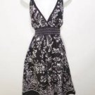P331 NEW SZ L FLOWER SPROUTS WHITE BLACK & WHITE CASUAL SUMMER WOMEN SUN DRESS