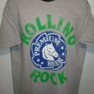 "L994 NEW ""SIZE M"" ROLLING ROCK BEER PREMIUM RUGGED RUB GRAY CLASSIC MENS SHIRT"