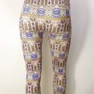 NEW SIZE S/M TRIBAL CHEVRON SOFT SEXY FITTED FASHION CAPRI LEGGINGS TIGHTS