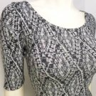 LB92 NEW SZ S DESIGNER FITTED COUTURE DIAMOND ARGLYE GRAY BLACK WOMAN DRESS