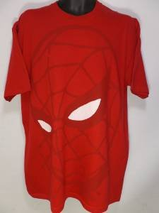 NEW SIZE XL RED SPIDERMAN MARVEL COMICS BIG HEAD SHOT SILHOUETTE SOFT MENS SHIRT