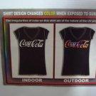 "BBU7 NEW SZ XL BLACK COKE COCA COLA CLASSIC ""SHIRT CHANGES COLORS IN SUN"" WOMAN"