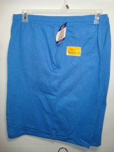 22W3 NEW SIZE 4XL CLASSIC BLUE ATHLETIC FRUIT OF THE LOOM MENS DRAWSTRING SHORTS