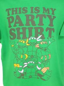 PY66 NEW SZ S GREEN PARTY SHIRT TEENAGE MUTANT NINJA TURTLES GRAPHIC MENS SHIRT