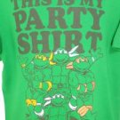 PT99 NEW SZ XL GREEN PARTY SHIRT TEENAGE MUTANT NINJA TURTLES GRAPHIC MENS SHIRT